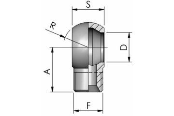 Armătură ochi hidraulic GAS cu filet exterior
